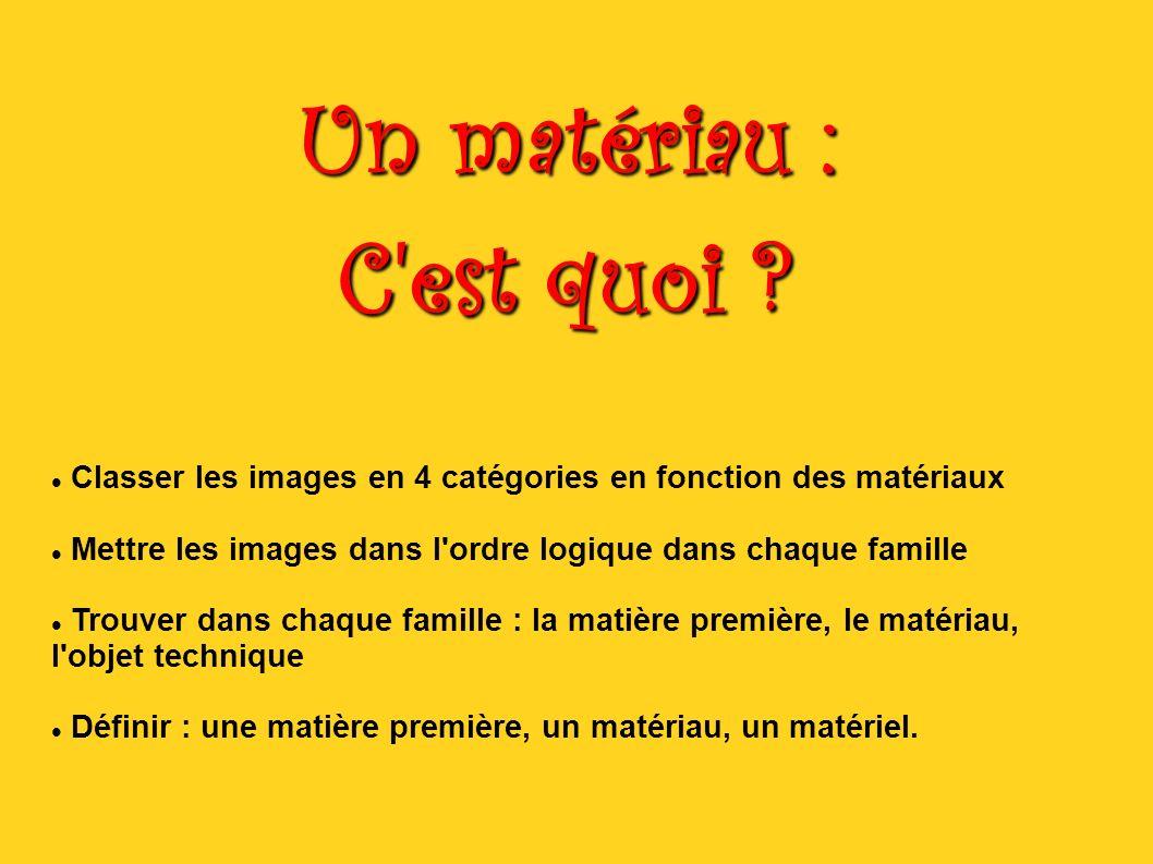 un mat u00e9riau   c u0026 39 est quoi   classer les images en 4 cat u00e9gories en fonction des mat u00e9riaux mettre