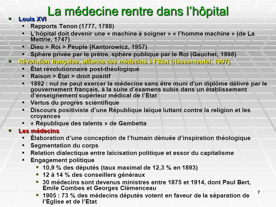 La médecine rentre dans l'hôpital
