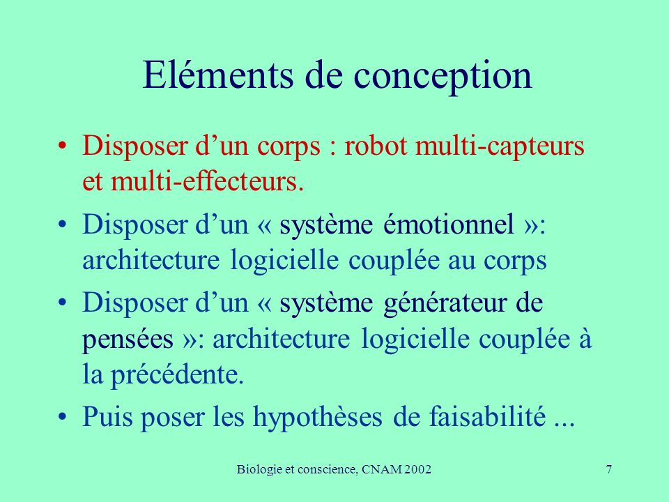 Eléments de conception