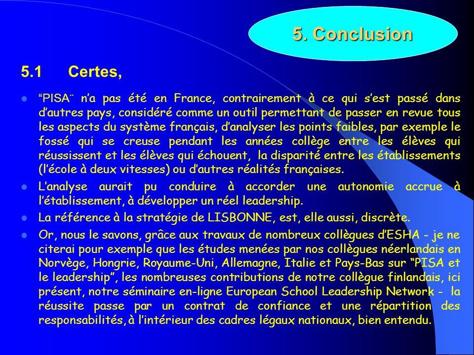 5. Conclusion 5.1 Certes,
