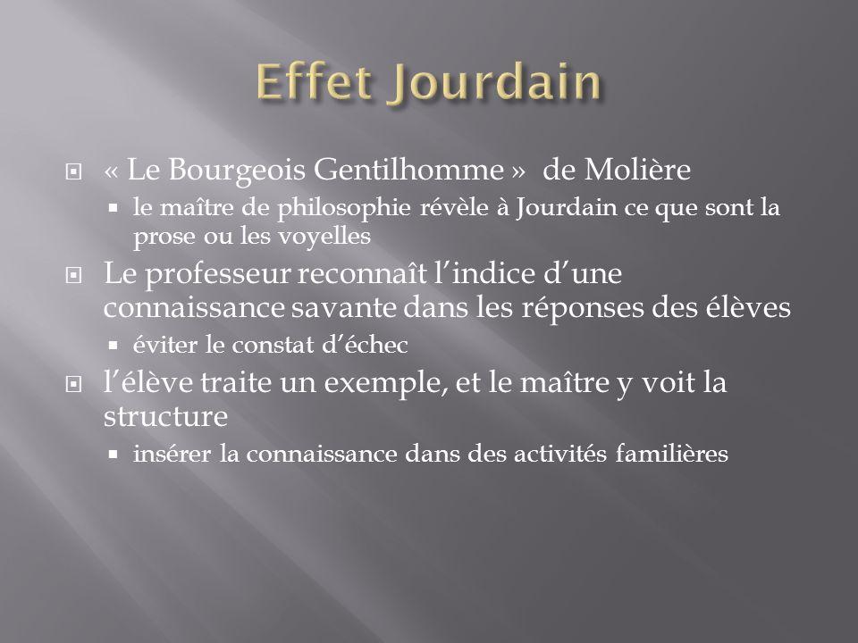 Effet Jourdain « Le Bourgeois Gentilhomme » de Molière