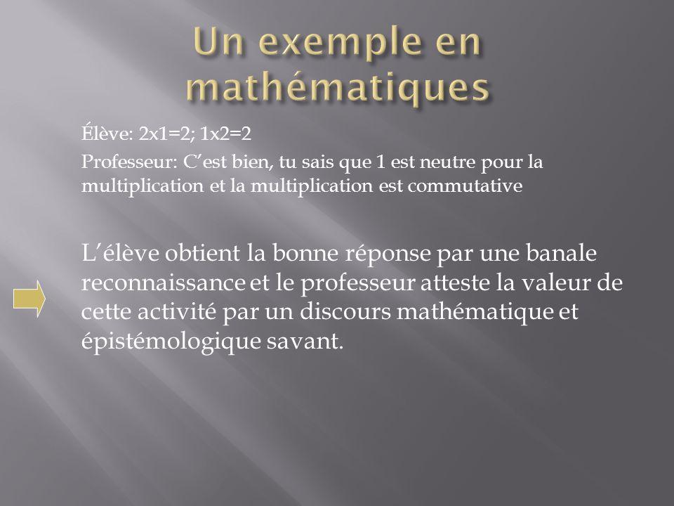Un exemple en mathématiques