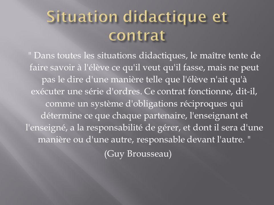 Situation didactique et contrat