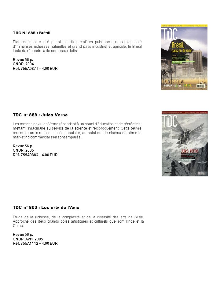 TDC n° 893 : Les arts de l'Asie