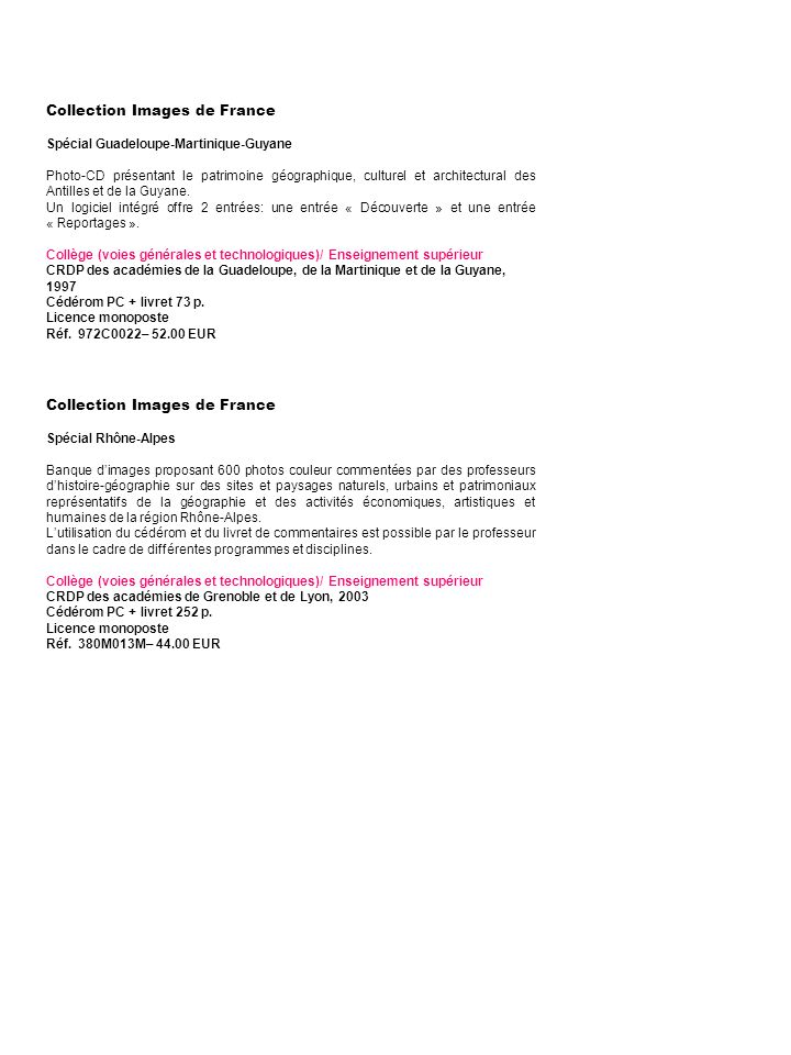 Collection Images de France