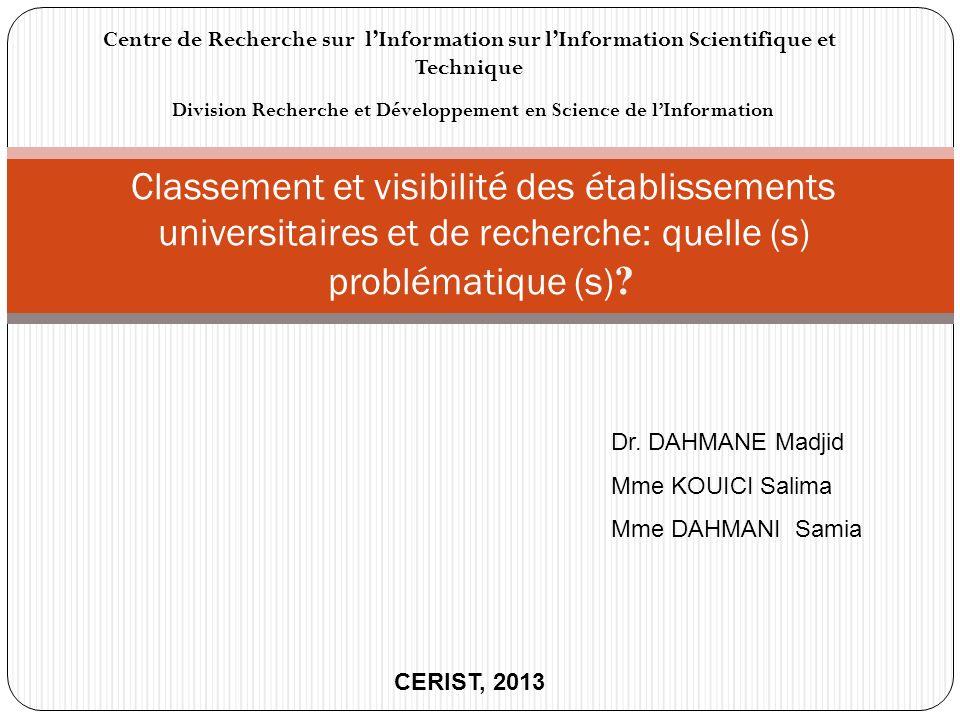 Division Recherche et Développement en Science de l'Information