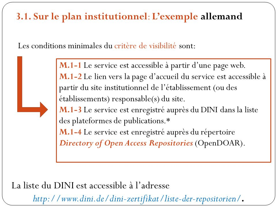 3.1. Sur le plan institutionnel: L'exemple allemand