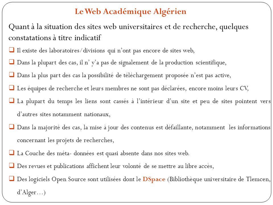 Le Web Académique Algérien