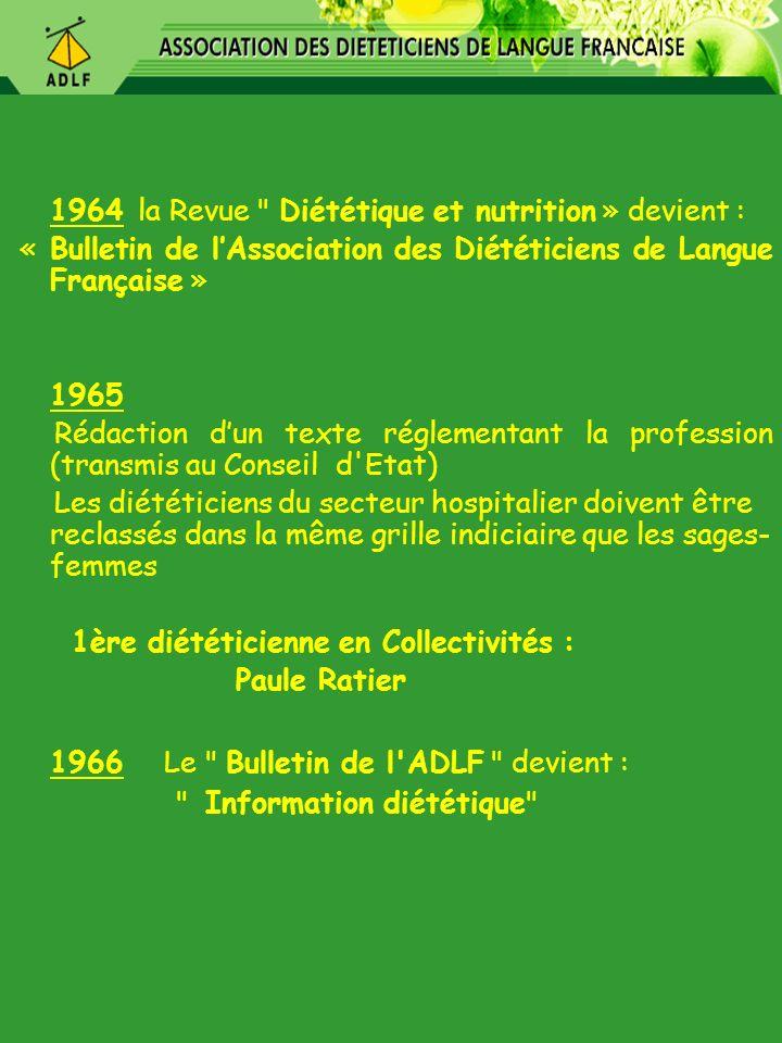1966 Le Bulletin de l ADLF devient :