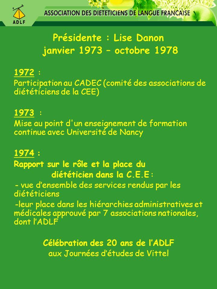 Présidente : Lise Danon Célébration des 20 ans de l'ADLF