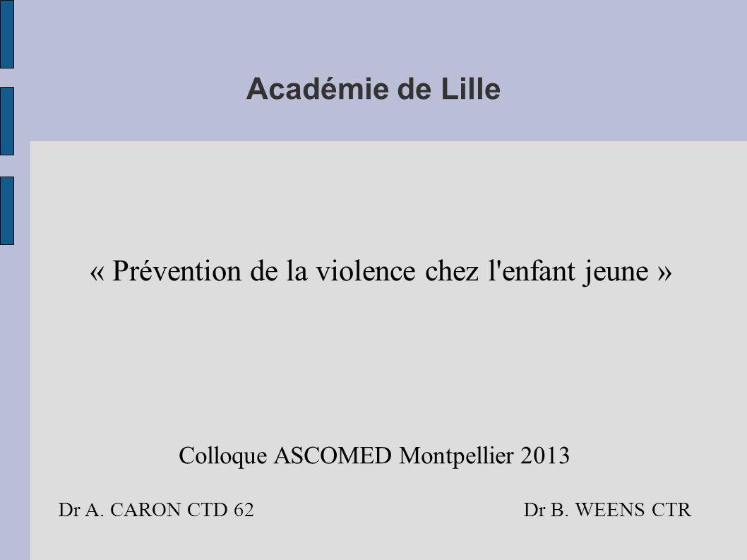 « Prévention de la violence chez l enfant jeune »