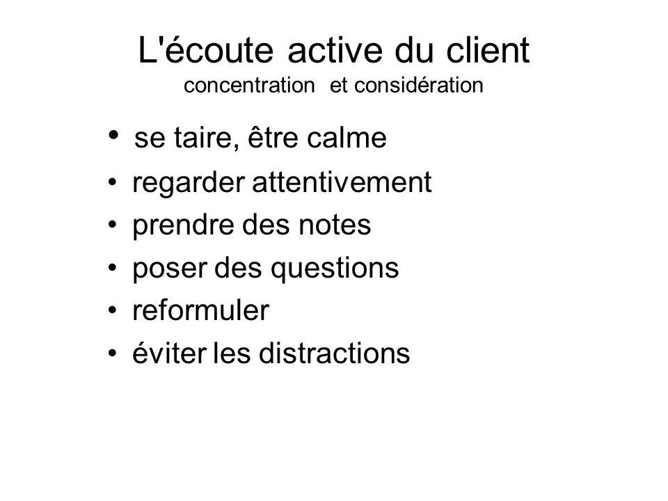 L écoute active du client concentration et considération