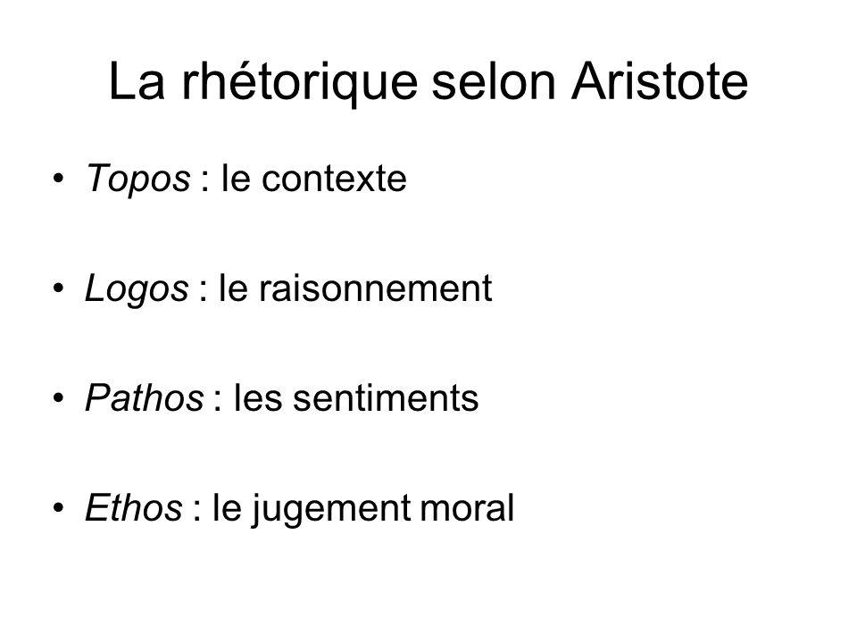 La rhétorique selon Aristote