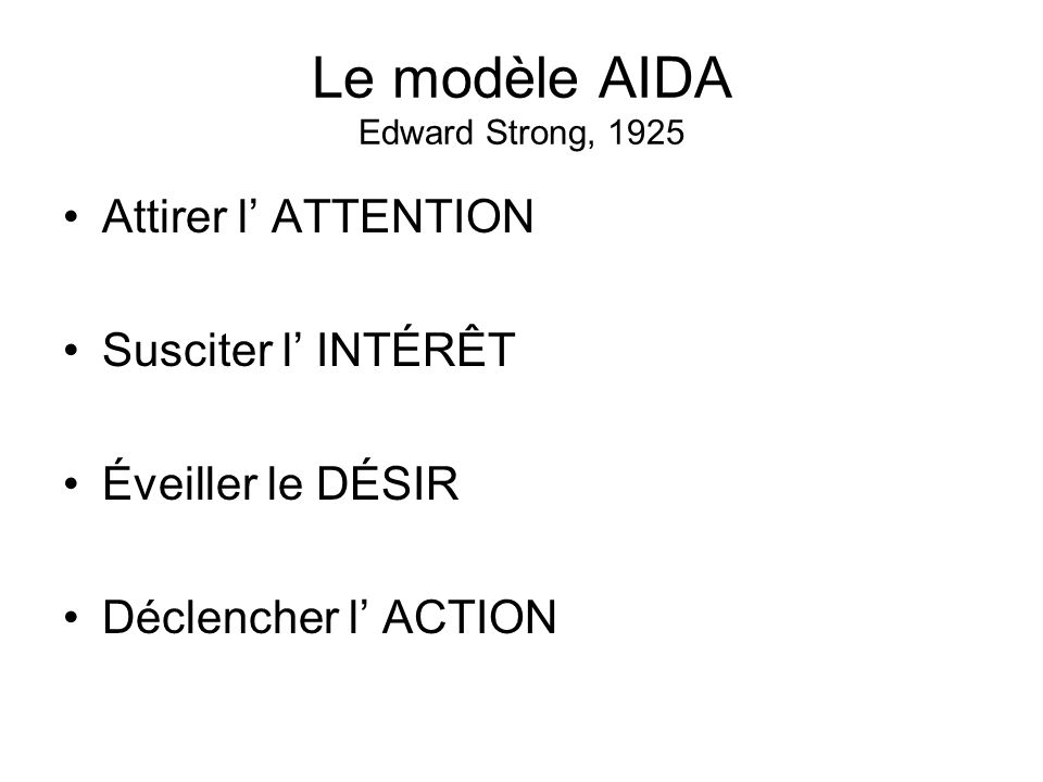 Le modèle AIDA Edward Strong, 1925