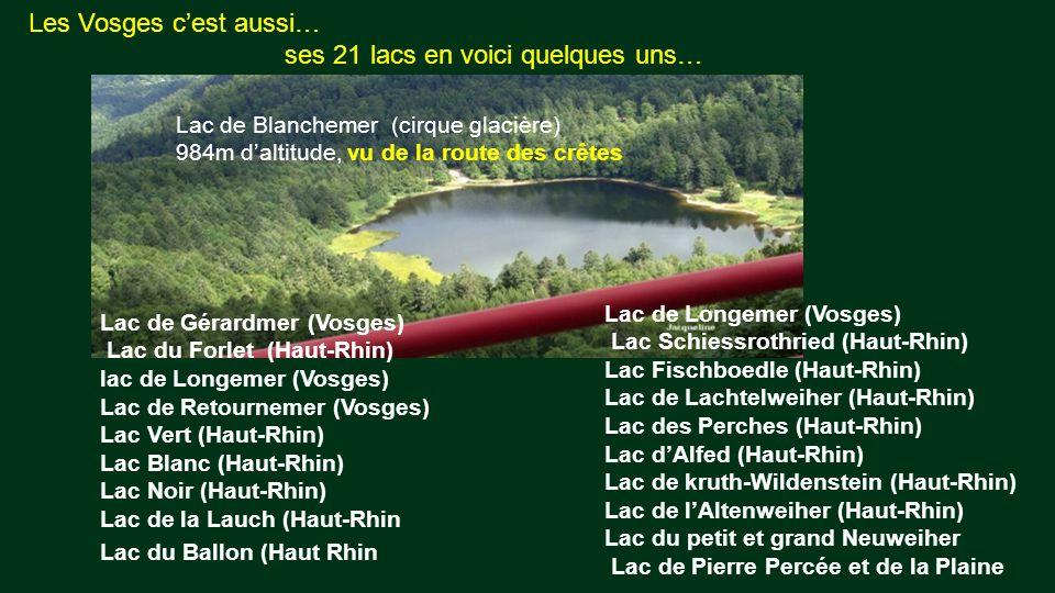 Les Vosges c'est aussi… ses 21 lacs en voici quelques uns…