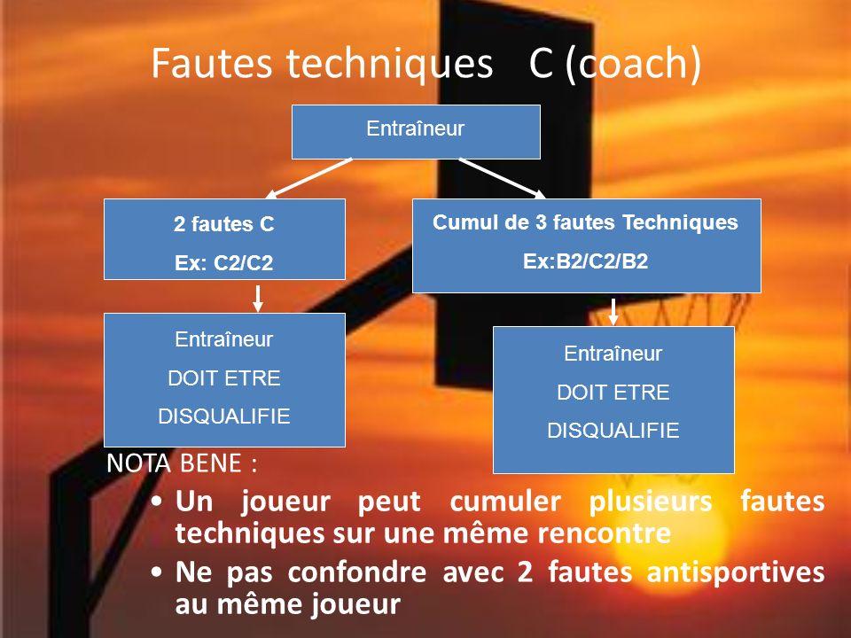 Fautes techniques C (coach)