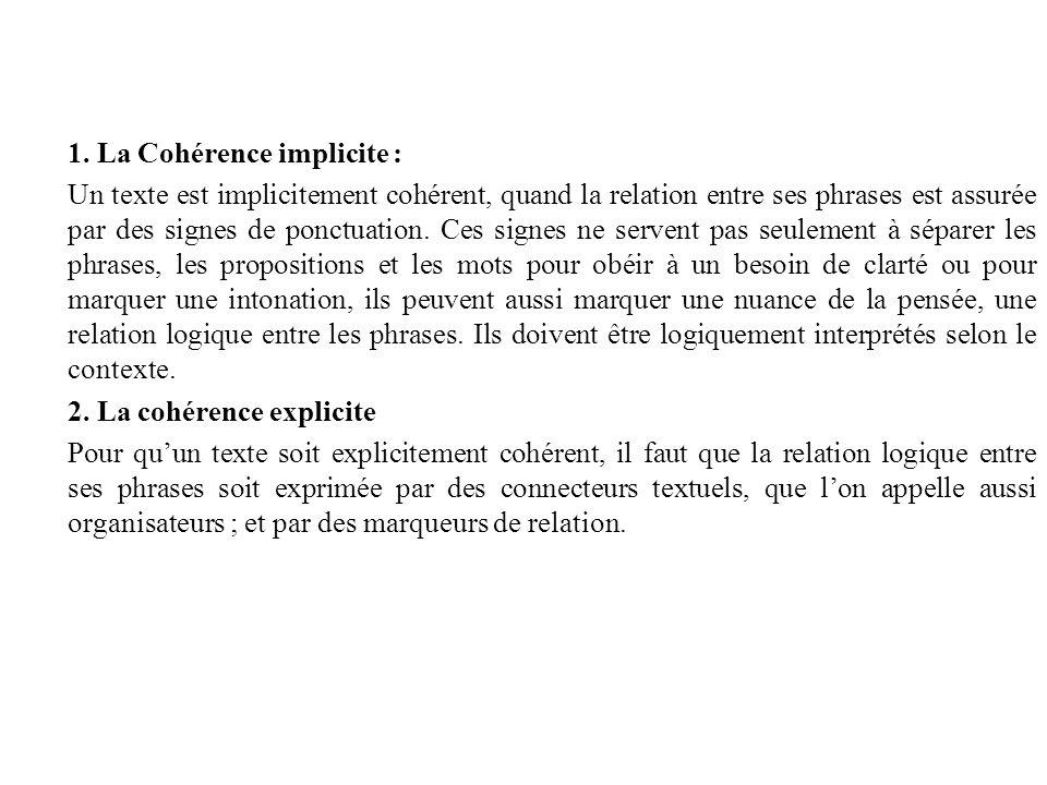 1. La Cohérence implicite :