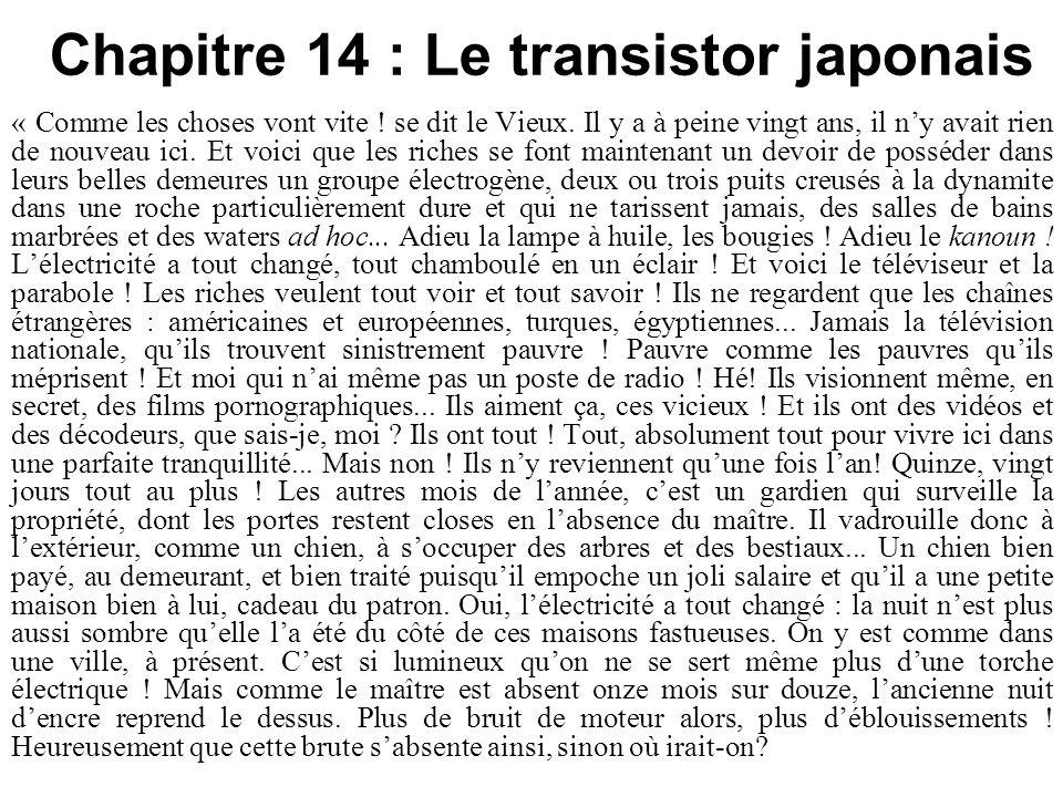 Chapitre 14 : Le transistor japonais