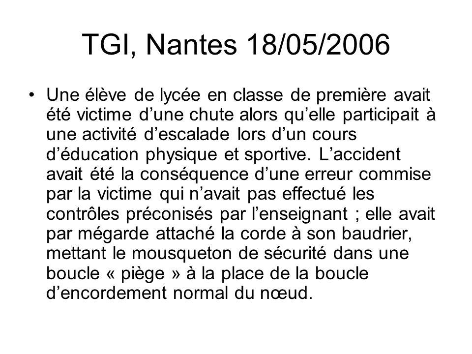 TGI, Nantes 18/05/2006