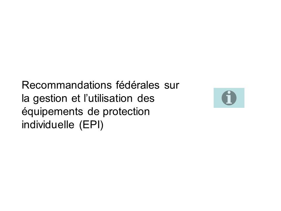 Recommandations fédérales sur