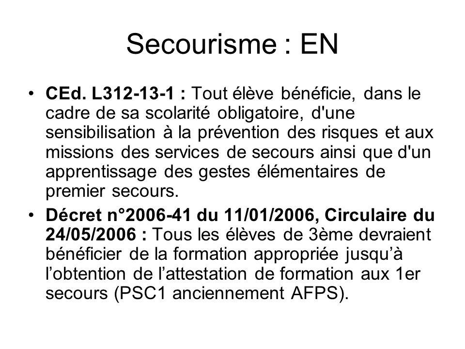 Secourisme : EN