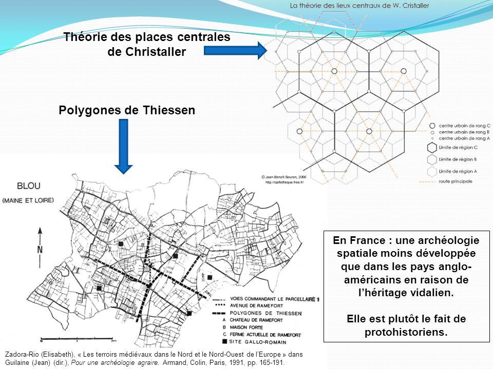 Théorie des places centrales de Christaller Polygones de Thiessen