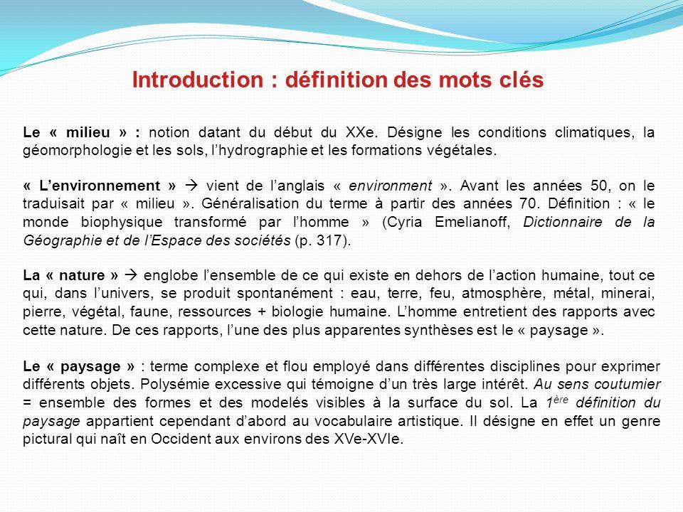 Introduction : définition des mots clés