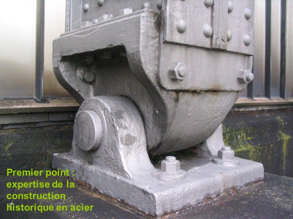 expertise de la construction historique en acier