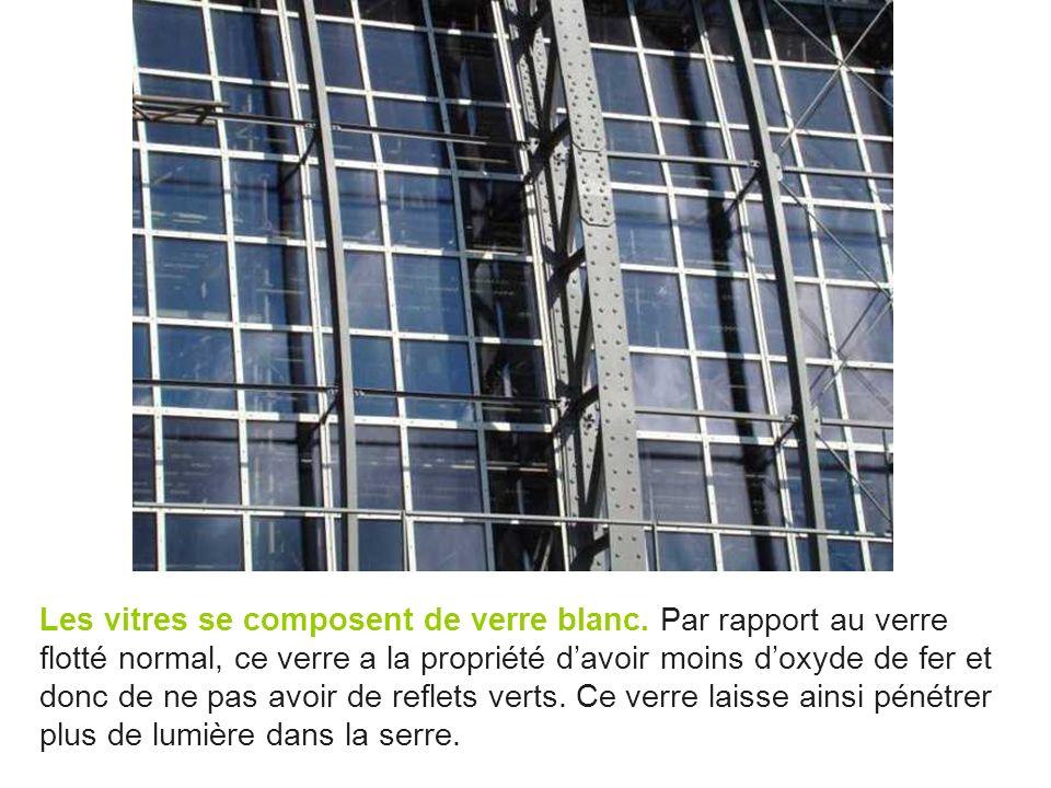 Les vitres se composent de verre blanc