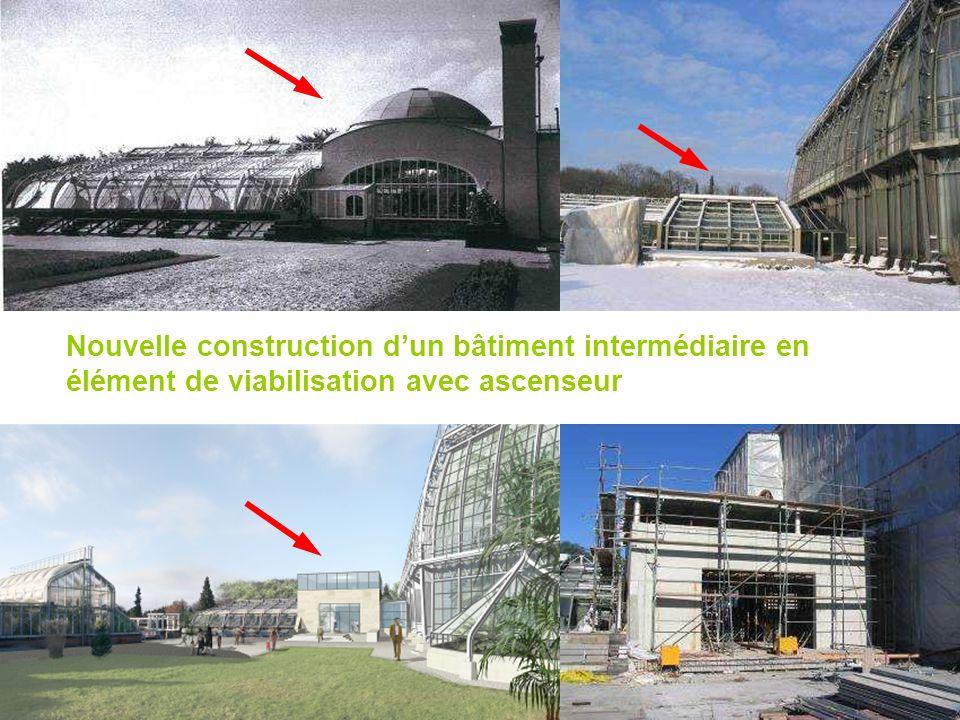 Nouvelle construction d'un bâtiment intermédiaire en élément de viabilisation avec ascenseur