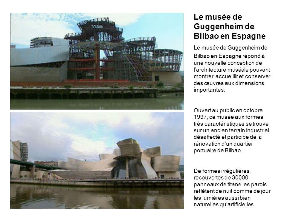 Le musée de Guggenheim de Bilbao en Espagne