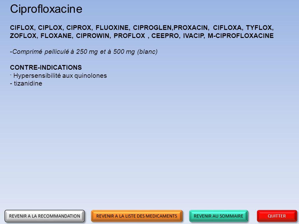 Ciprofloxacine