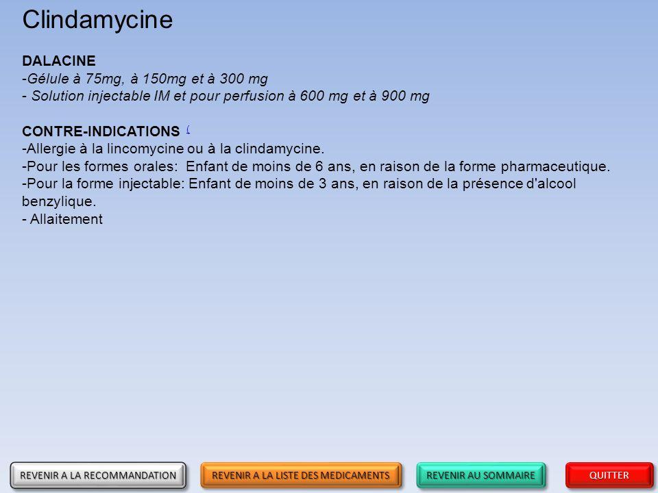 Clindamycine DALACINE Gélule à 75mg, à 150mg et à 300 mg
