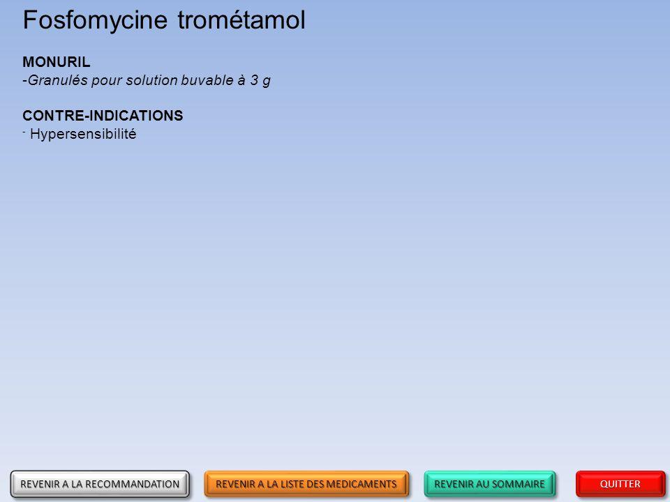Fosfomycine trométamol