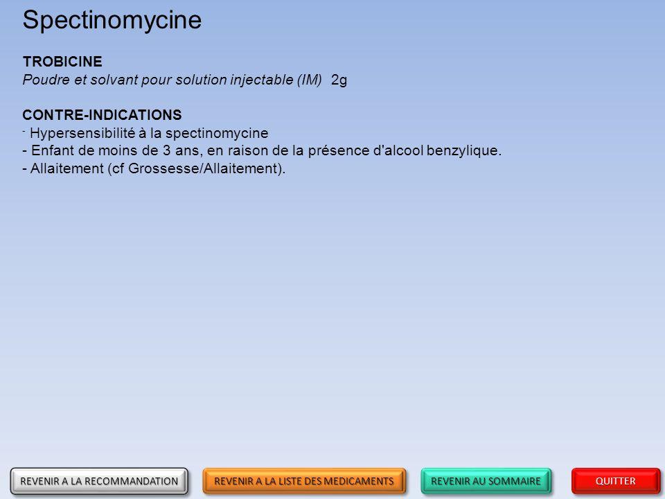 Spectinomycine TROBICINE
