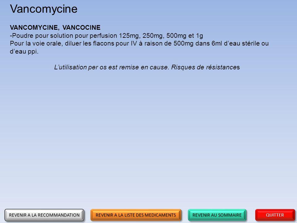 Vancomycine VANCOMYCINE, VANCOCINE