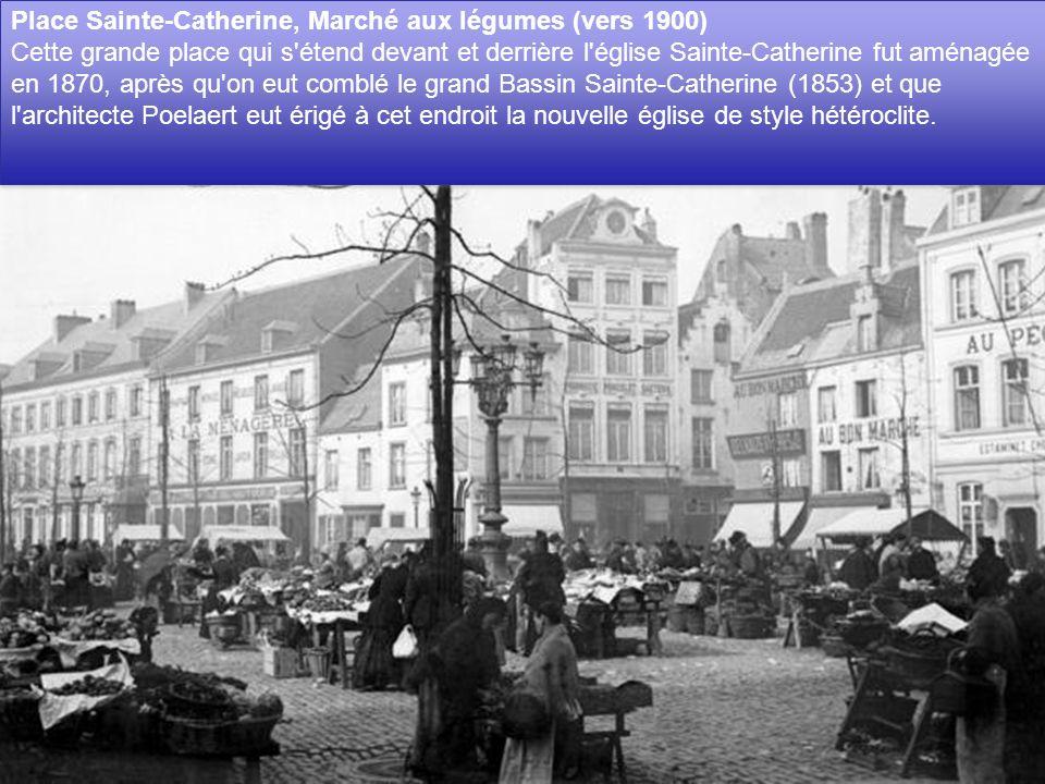 Place Sainte-Catherine, Marché aux légumes (vers 1900)