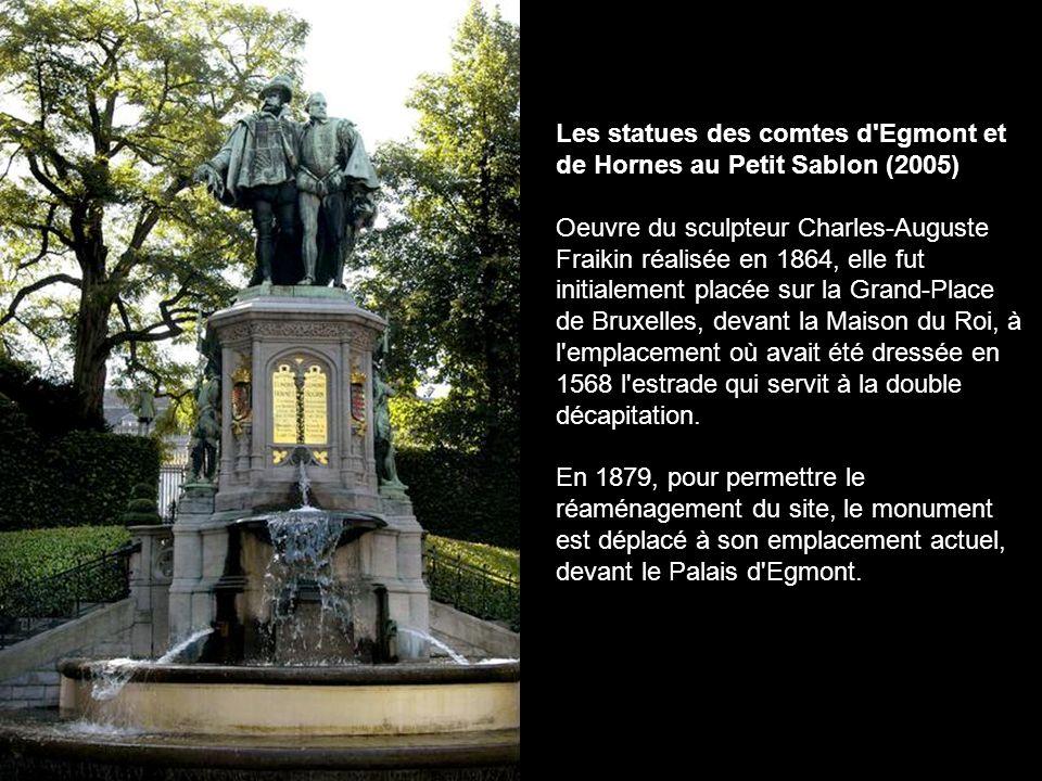 Les statues des comtes d Egmont et de Hornes au Petit Sablon (2005)