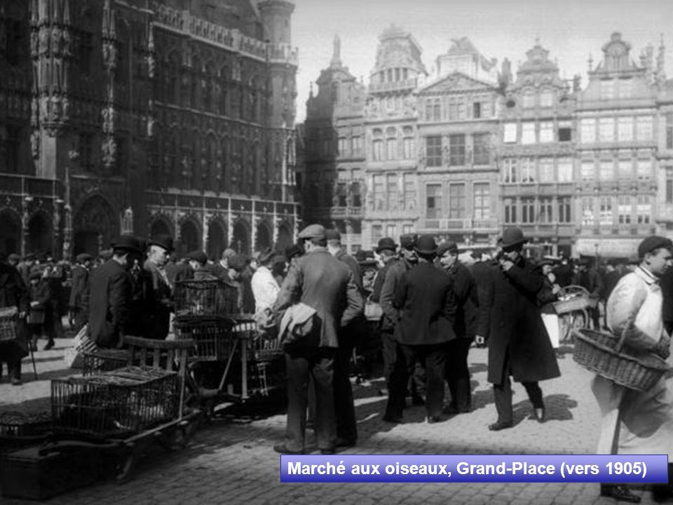 Marché aux oiseaux, Grand-Place (vers 1905)