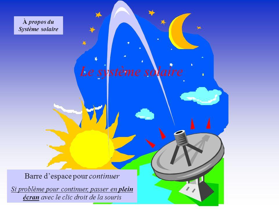 À propos du Système solaire