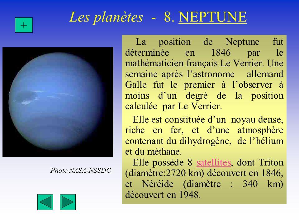 Les planètes - 8. NEPTUNE +