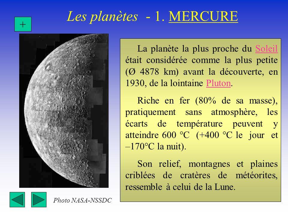 Les planètes - 1. MERCURE +
