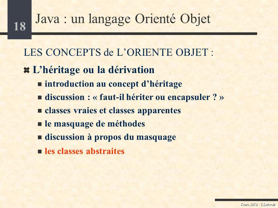 Java : un langage Orienté Objet
