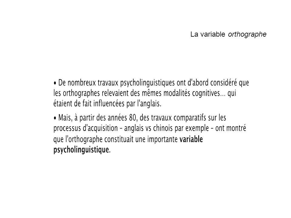 La variable orthographe