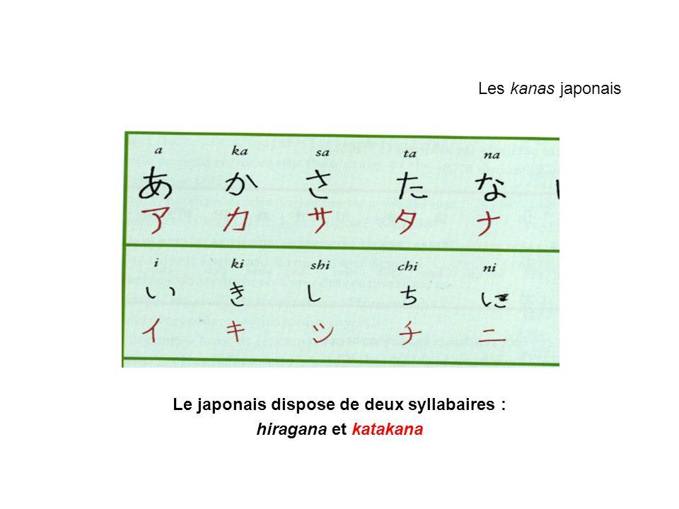 Le japonais dispose de deux syllabaires :