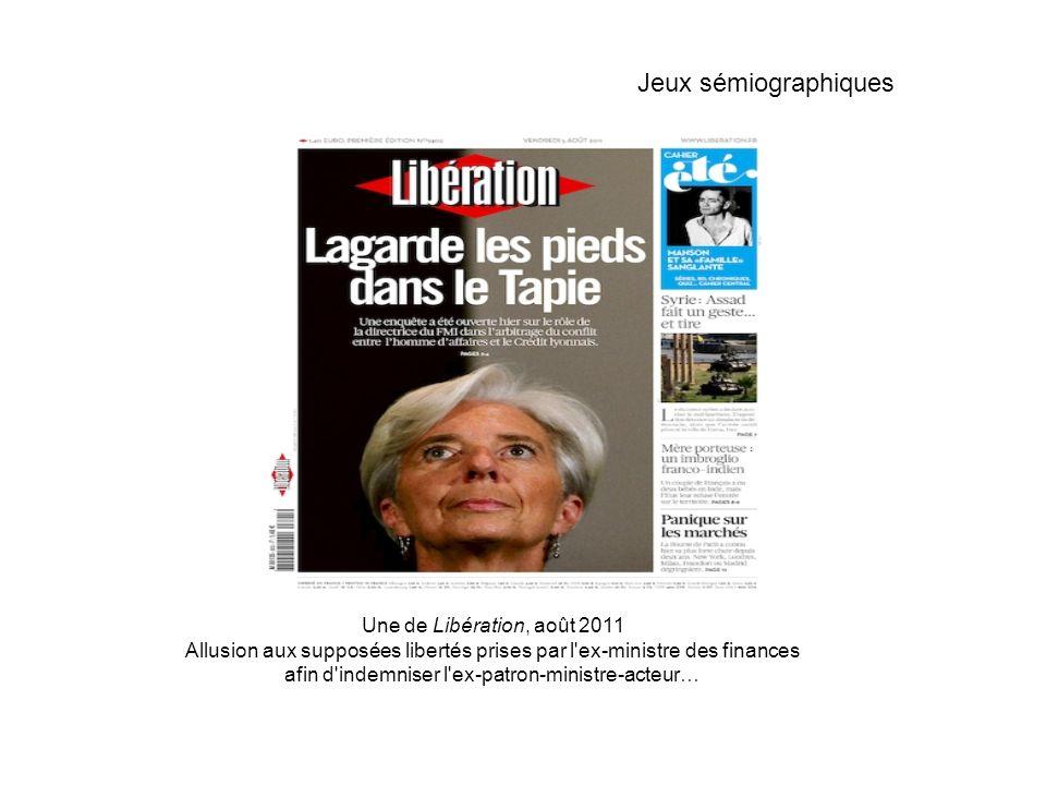 Jeux sémiographiques Une de Libération, août 2011