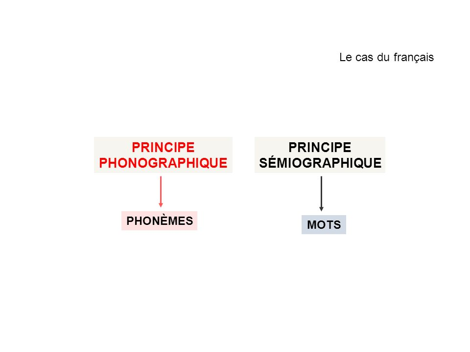 PRINCIPE PHONOGRAPHIQUE PRINCIPE SÉMIOGRAPHIQUE