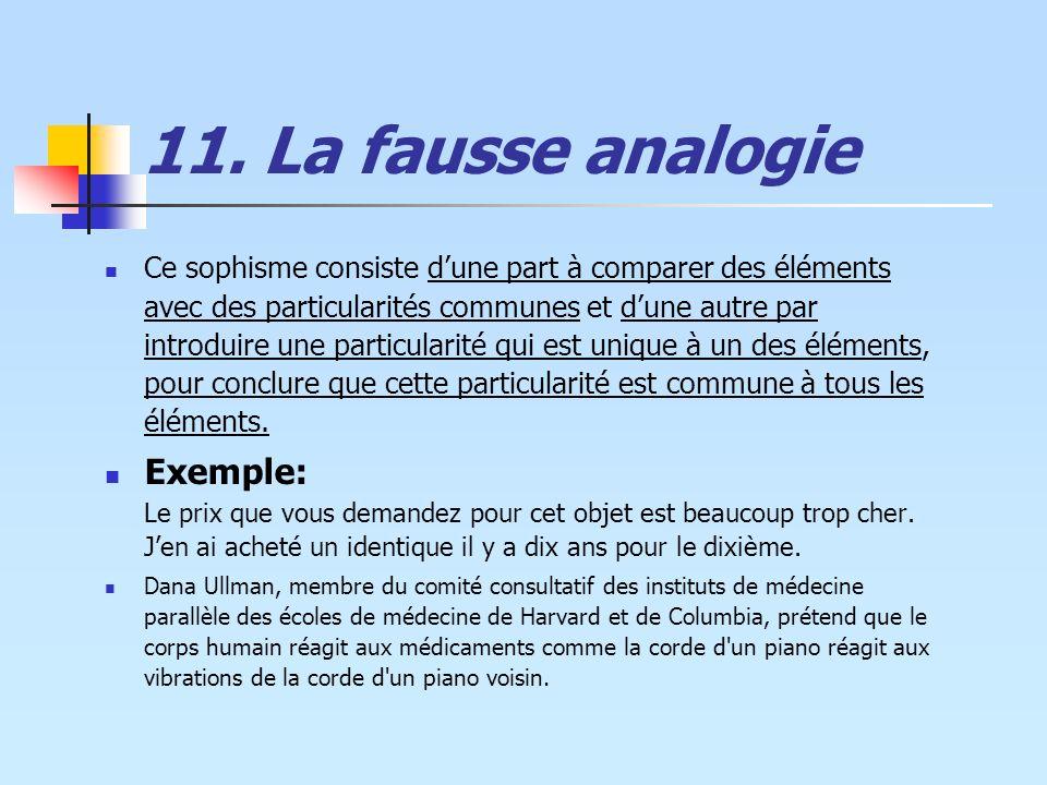 11. La fausse analogie