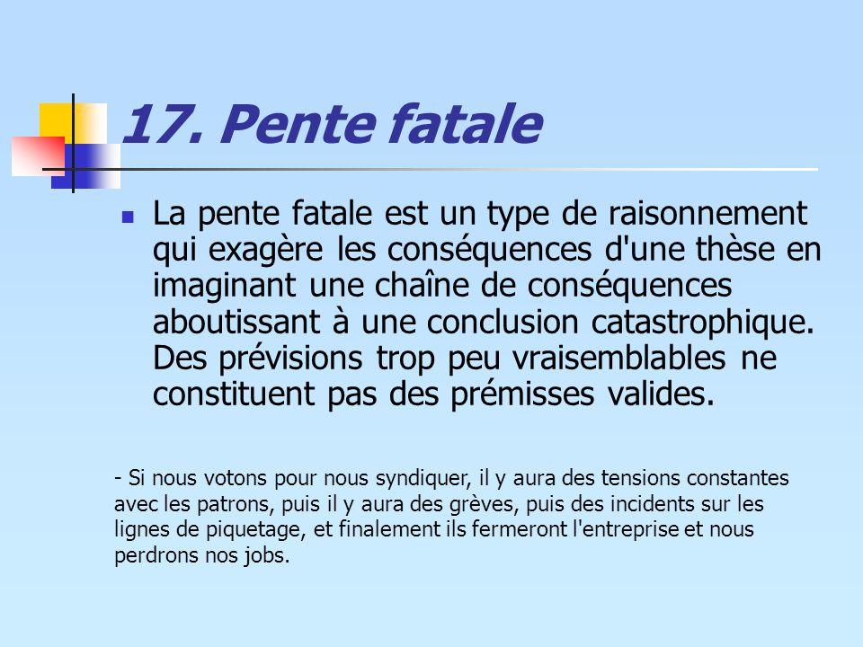 17. Pente fatale