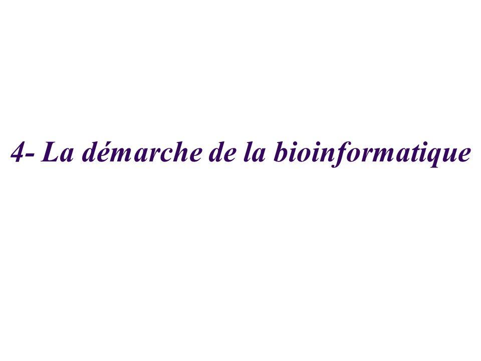 4- La démarche de la bioinformatique